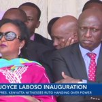 President Kenyatta witnesses Isaac Ruto handing over power