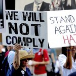 Trump rally in Arizona sees scuffles between protesters and supporters