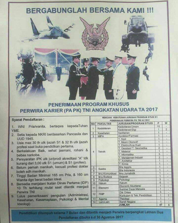 @Puspen_TNI Mohon izin, mengenai brosur ini apakah benar pa pk tni au sudah dibuka ? Mohon petunjuk min https://t.co/uetNrnQej5