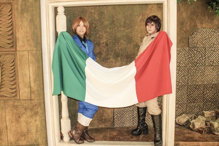 【ヘタリア*コスプレ】一つの旗、一つの希望  『統一せよ』________________________フェリシアーノ