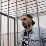 Russian celebrities gather outside Moscow court to demand director's release