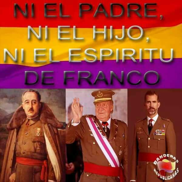 RT @Emma1492is: #SienteLaRepública La monarquía no representa al pueblo.Es la herencia del fascista de Franco. https://t.co/ZL0Tv4Zat3