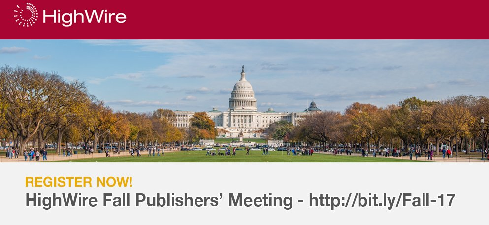 test Twitter Media - #HWFallMeeting Attracting authors, customer centric design, data visualization - some of the great topics at our Fall Meeting. Register now! https://t.co/VGcuvnSRnY