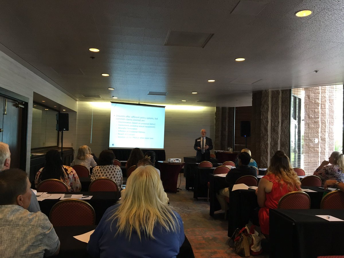 .@EmployersCo own William L Smith Jr teaches #EPLI to Tucson SafetyWorks attendees #HR https://t.co/5ivcEB8Xud