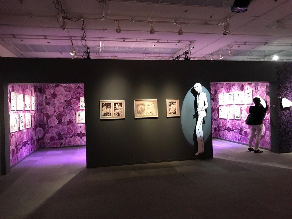 『ガラスの仮面』原画展❣️チラ見第7弾‼️紫の真澄部屋。じっくりご覧下さい💖うふふ(^^)
