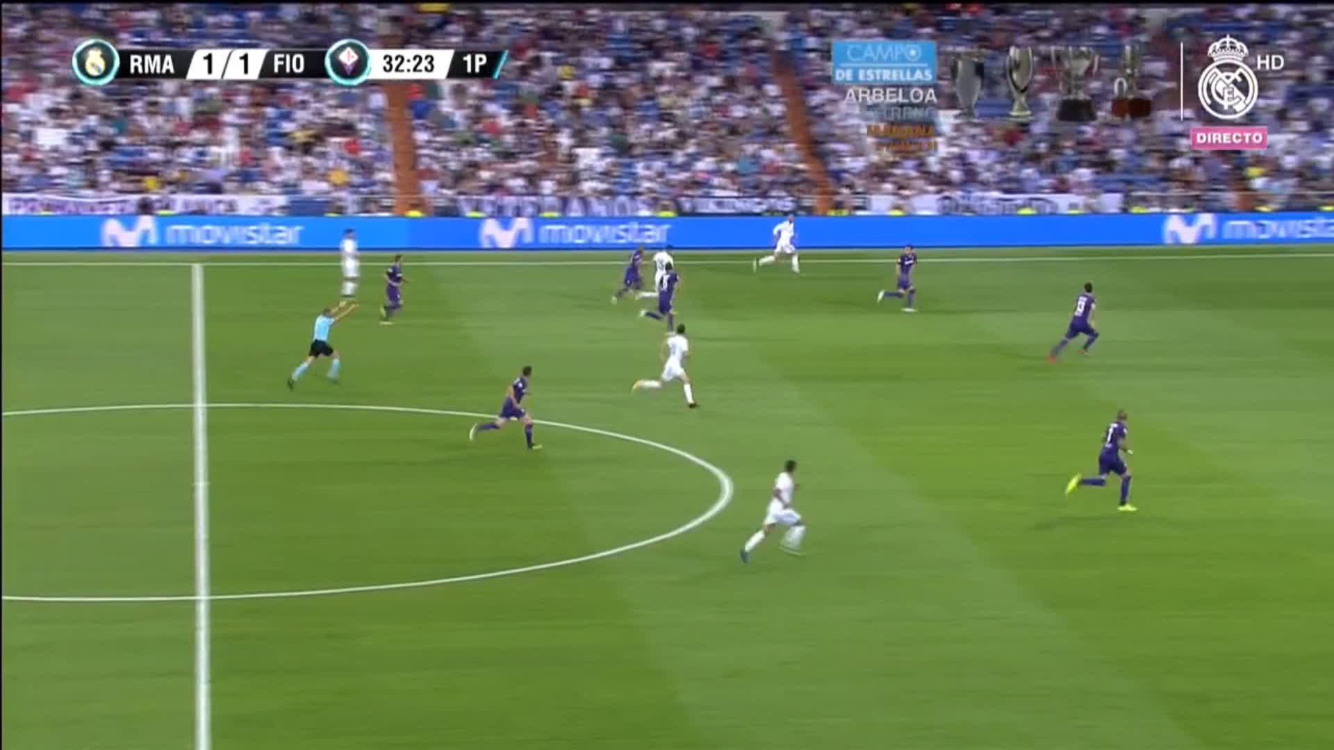 ⚽️�� 33' GOLAZOOOO by @Cristiano!!!  #RealMadrid 2-1 @acffiorentina  #HalaMadrid https://t.co/uXHbxiKjN3