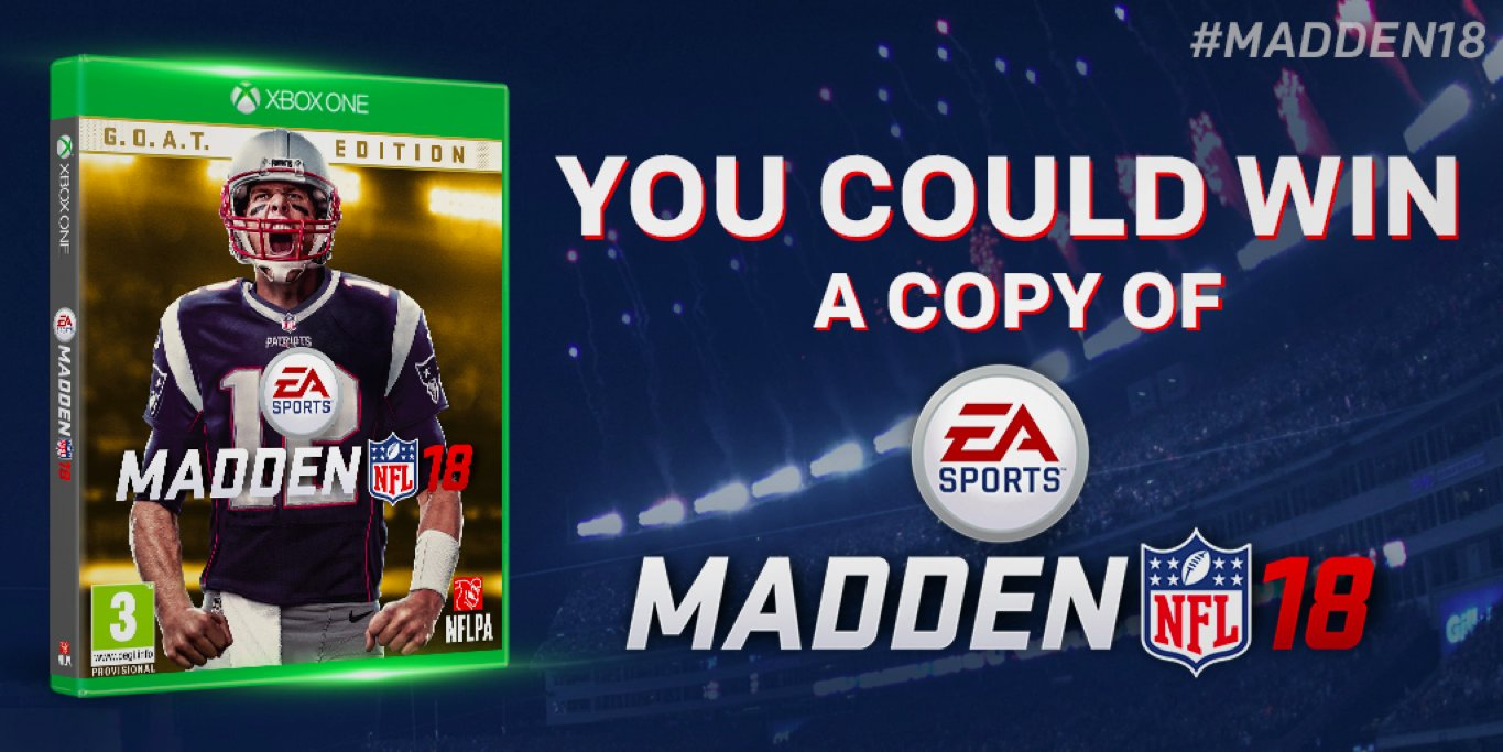It's that time of the year!  We're giving away 25 copies of @EAMaddenNFL 18! RT to enter to win! #Madden18 https://t.co/x8bUrqLqu1