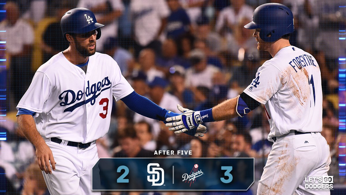 After 5:  #Dodgers 3, Padres 2  �� https://t.co/g0yfcpD3yj