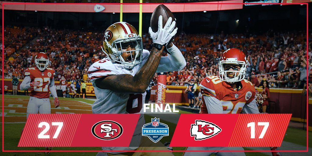 FINAL: @49ers earn the WIN in KC!  #SFvsKC https://t.co/as8EErmNSJ