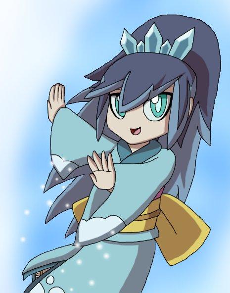 Blizzaria (ふぶき姫 Fubukihime) #妖怪ウォッチ  #YokaiWatch #YokaiArt