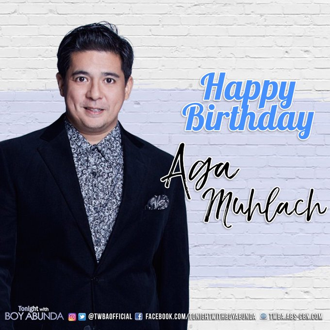 Happy Happy Birthday Aga Muhlach! We miss you on the show! Hope to see you soon!