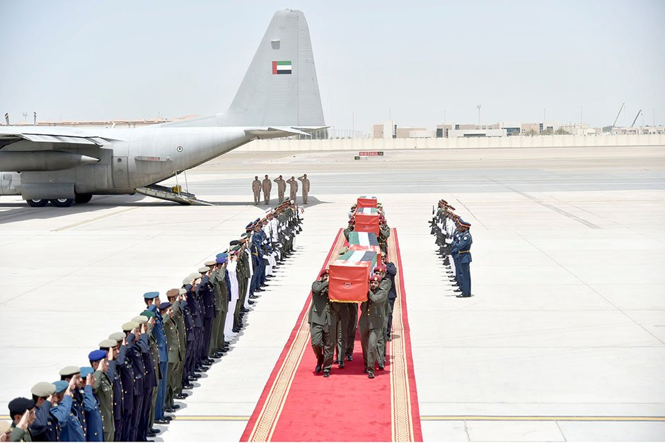 Families mourn four UAE soldiers martyred in Yemen