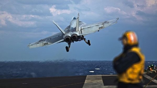 Pilot ejects, escapes injury as US fighter jet crash lands in Bahrain
