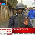 UHURU's Government arrest KTN journalist who was covering Kibera protests.