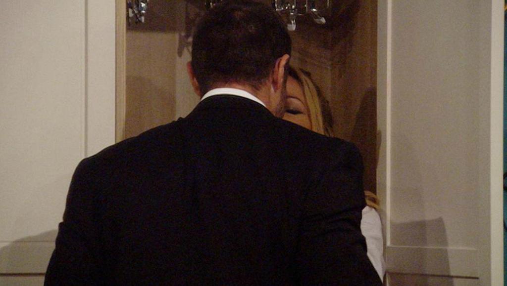 Sarah Harding and Chad Johnson kiss on Celebrity Big Brother despite Karthik Nagesan hinting she has a secret boyfriend