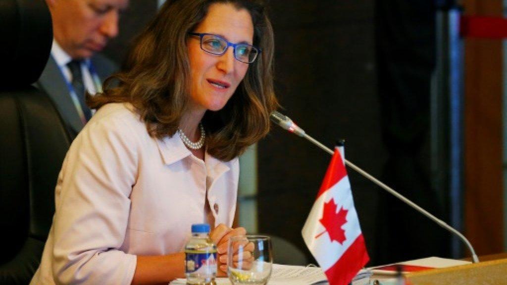 Canada FM urges US, N. Korea to step back