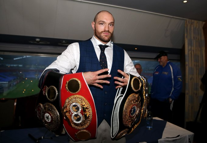 Heavyweight titles...  - WBA: - IBF: - WBO: - IBO: - Fights: 25 - Wins: 25  Happy birthday Tyson Fury!