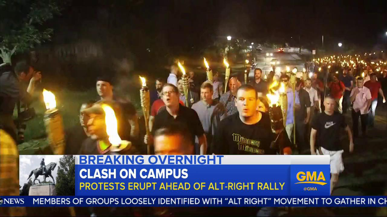 WATCH: Clash on campus; protests erupt ahead of Alt-Right rally: https://t.co/0QwcGubX4C @sramosABC https://t.co/TJHfWFekL9