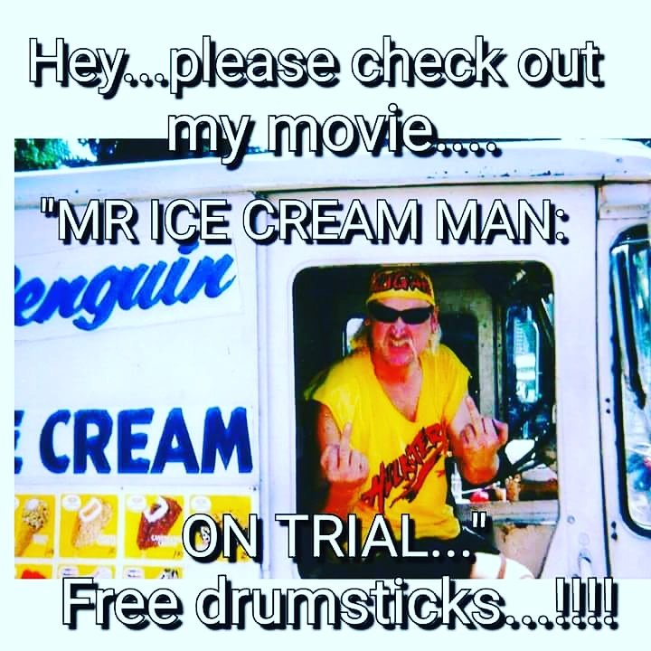 "A belated HAPPY BIRTHDAY TO HULK HOGAN from \""the HULK ICE CREAM MAN\"" BROTHERRRRRRRRRRRR........ !!!!!!!!!"