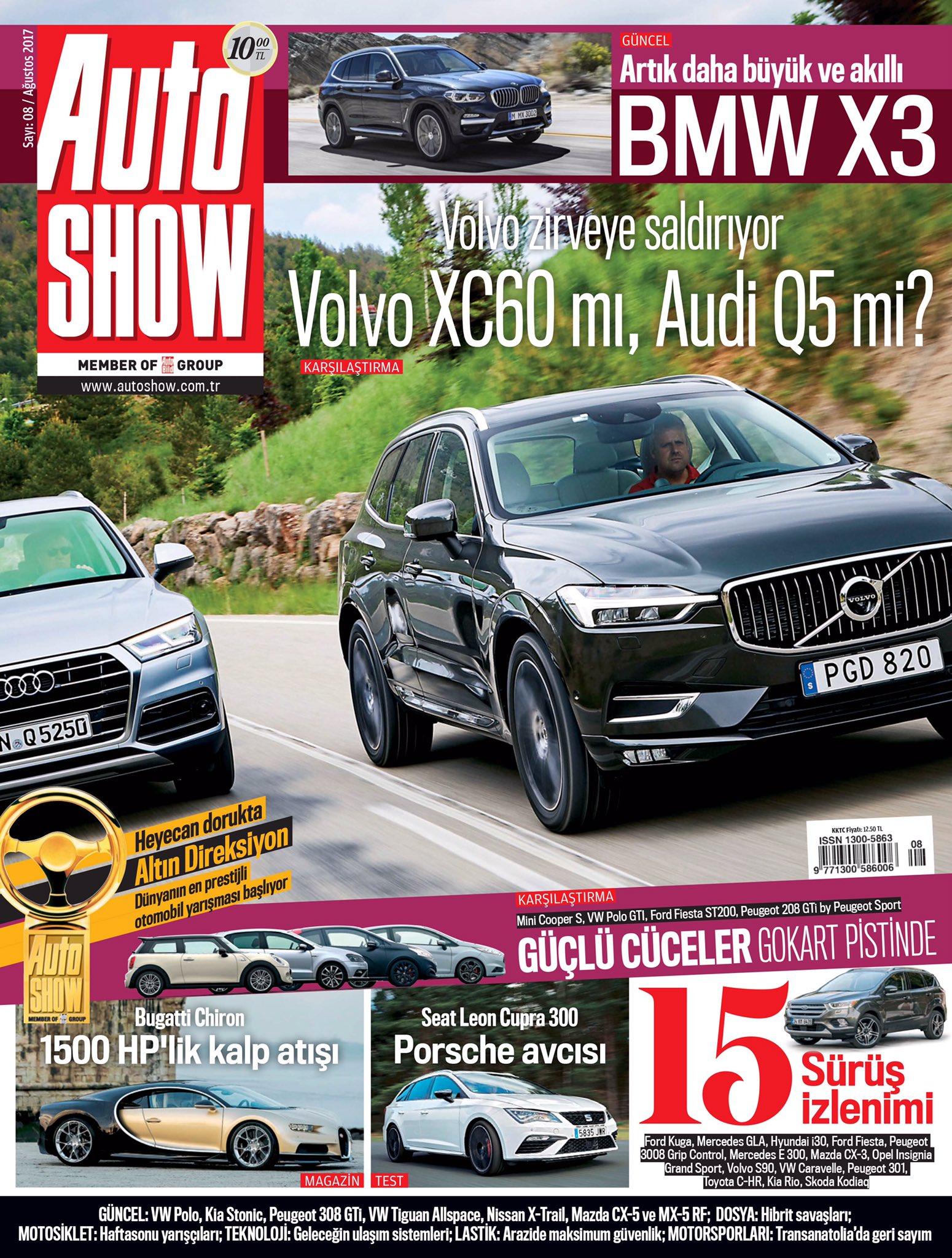 #Volvo XC60 ve #Audi Q5 Zirvenin sahibi kim olacak. Auto SHOW Dergi Ağustos sayısında. https://t.co/SvBgBTEKqX