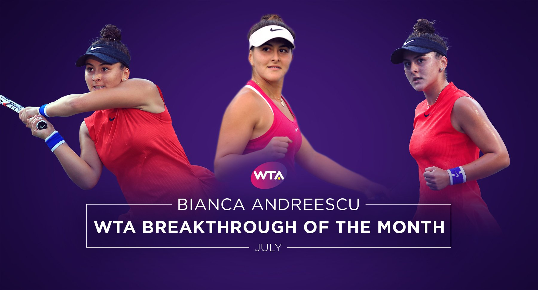 .@Bandreescu_ voted July's #WTA Breakthrough of the Month--> https://t.co/y60KDbDE5W �� https://t.co/x2qWmpi48S