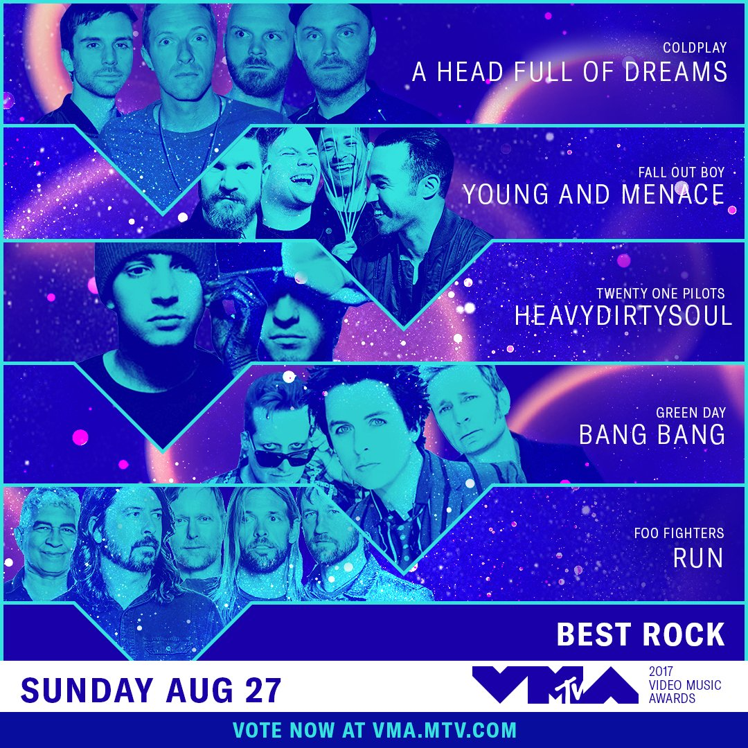 Who are you rocking with for this year's #VMAs? Vote now �� https://t.co/2pGPHQUKrR https://t.co/E3wv3yQ64D