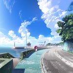 凪のあすから きょうのいちまい画集EarthColors付録冊子用表紙のご紹介。背景はBDDVD第2巻で描いた物にOP2
