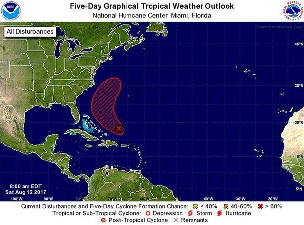 New tropical storm soon? Hurricane center watching area near Bahamas