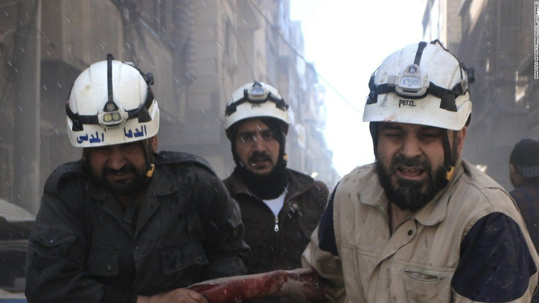 Seven members of the White Helmets rescue group shot dead in Syria gun attack