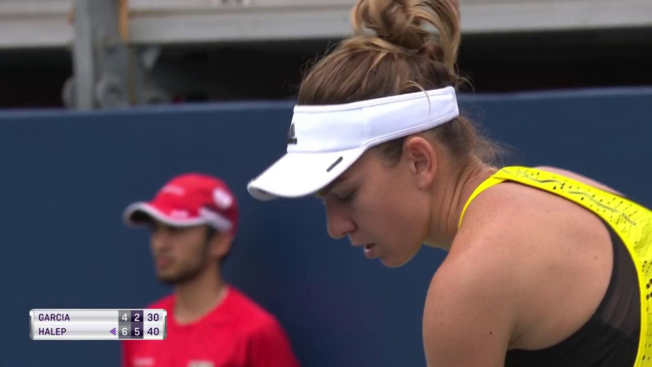 .@Simona_Halep is back in the @rogerscup semifinals!  Downs Garcia, 6-4, 6-2! https://t.co/456KzAswpz