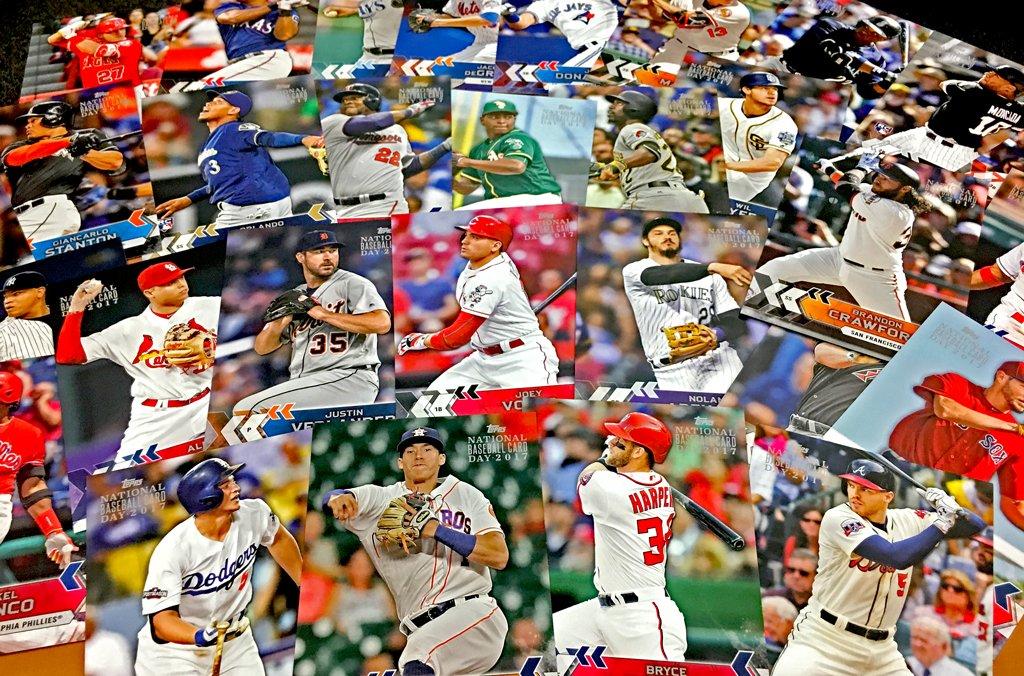 First up, a jumbo @Topps set made custom for #ToppsBaseballCardDay!     RT to win one of three! #MLBCards https://t.co/6gGbZBCktZ
