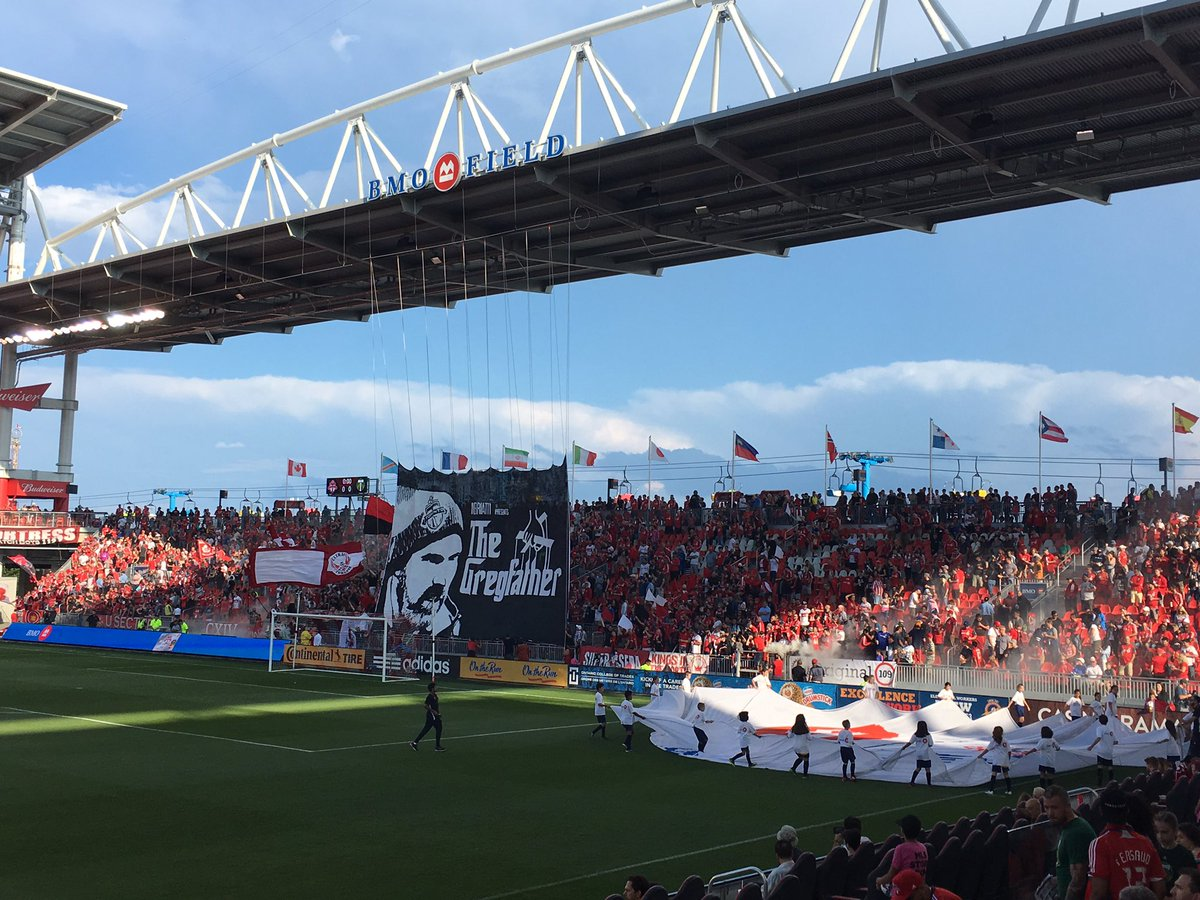 Best supporters group in #MLS Our Southend #TORvPOR #TFCLive #COYR https://t.co/Rz3lqGfvbG
