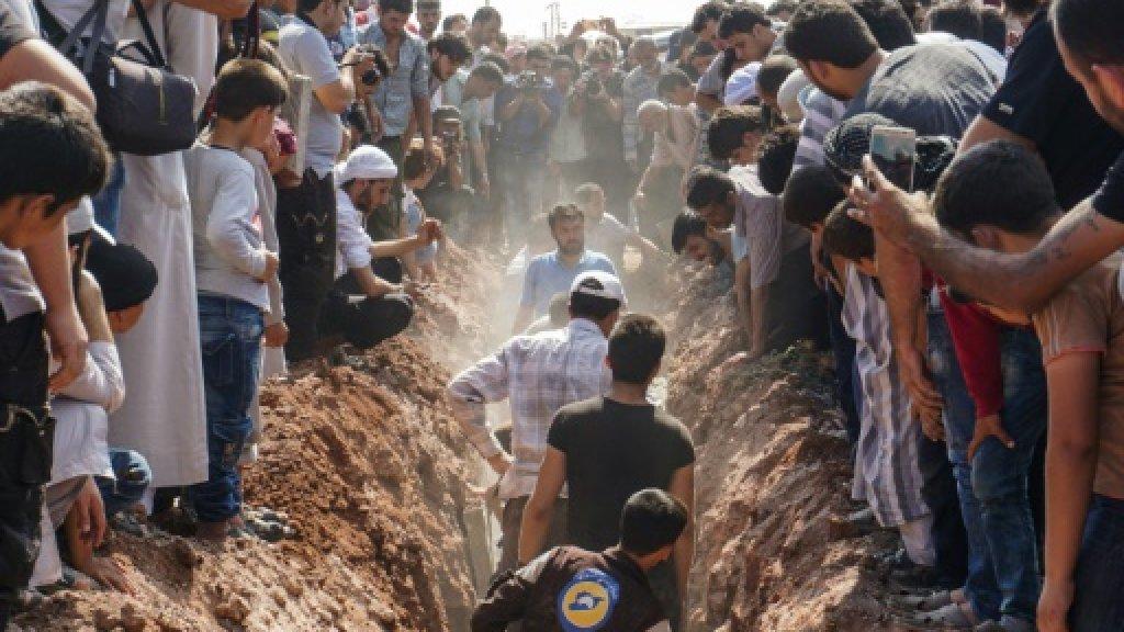Seven rescue workers killed in jihadist-held Syria town