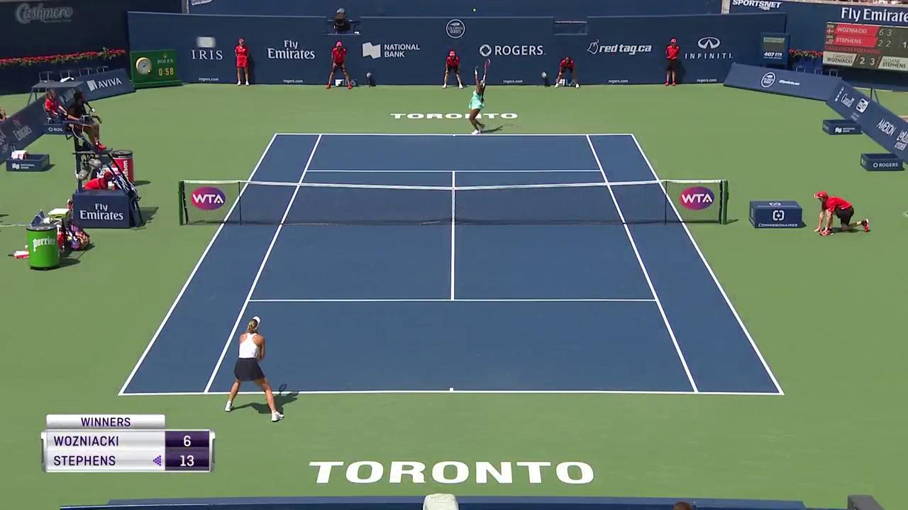 33 shots! ������  @CaroWozniacki is trying to hold off the Stephens comeback! #rogerscup https://t.co/qHz62MpWSx