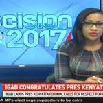 IGAD lauds president Kenyatta for win, calls for respect for polls