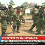 4 people die in Kisumu and Siaya protests