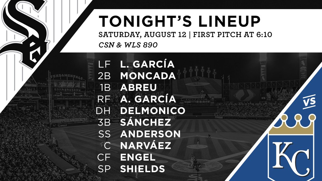 Tonight's #SoxGameDay starters: https://t.co/JWPZ0znJhC