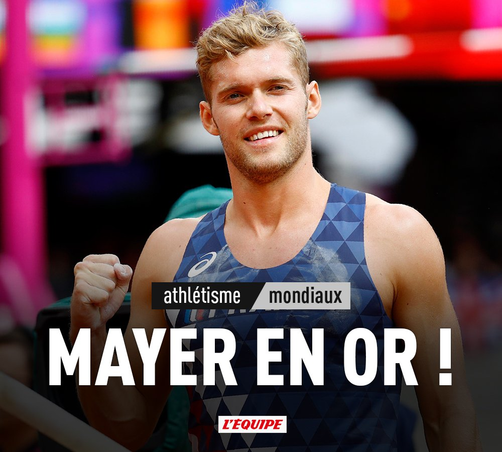 Kevin Mayer est champion du monde du décathlon : https://t.co/odbF54AuMS https://t.co/s0Rbdd6cUu