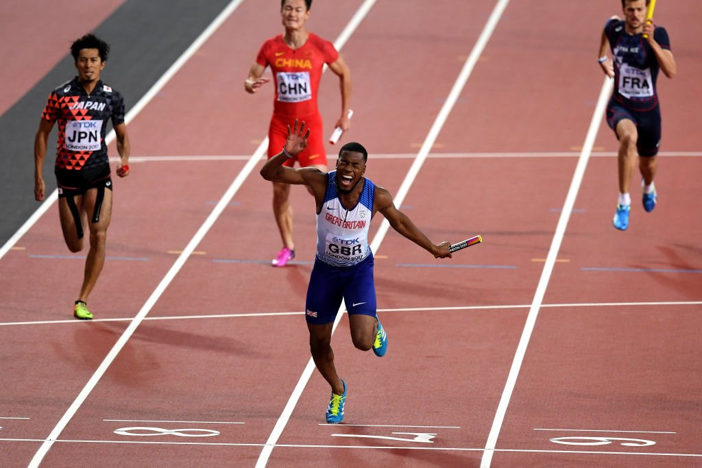 That feeling when you cross the line as a WORLD CHAMPION! ��  #London2017 #bbcathletics  https://t.co/1hZzYyak1x https://t.co/A9ypoAzxAl