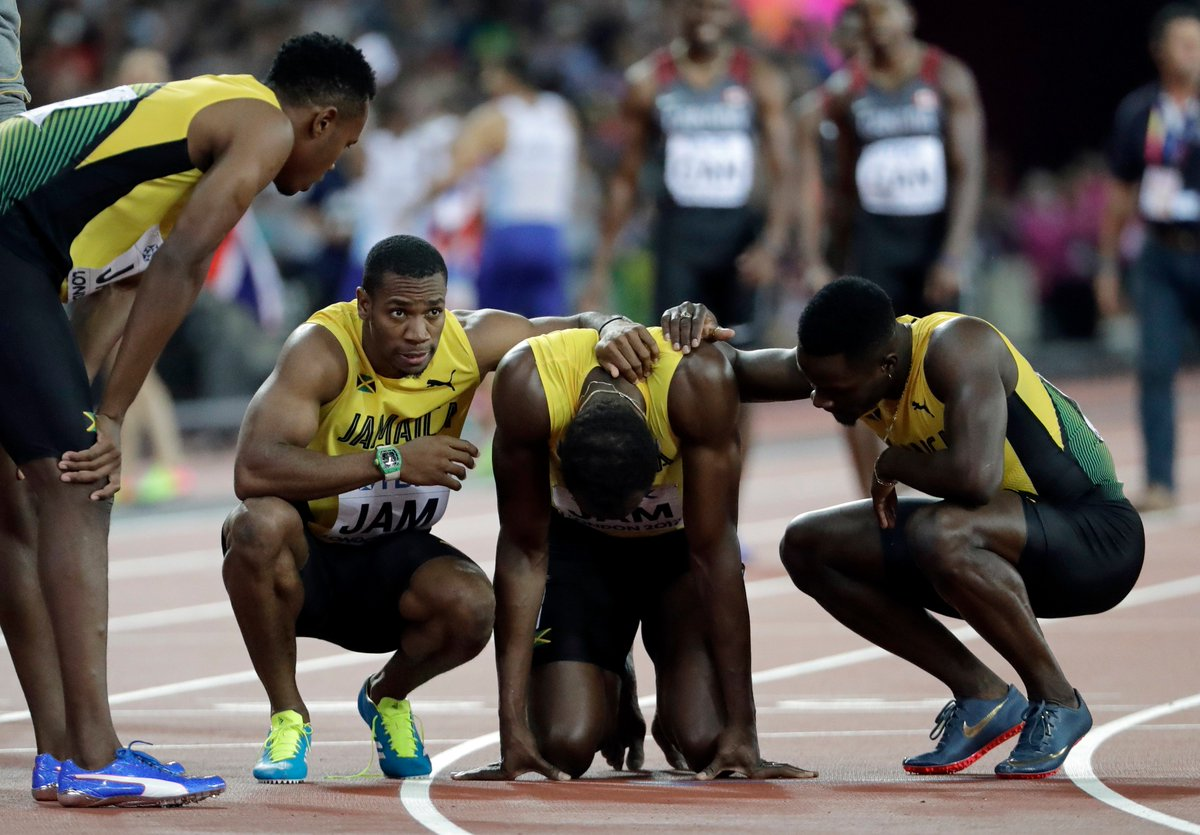 Usain Bolt Fails to Finish 4x100m Relay Medal Race at IAAF World Championships
