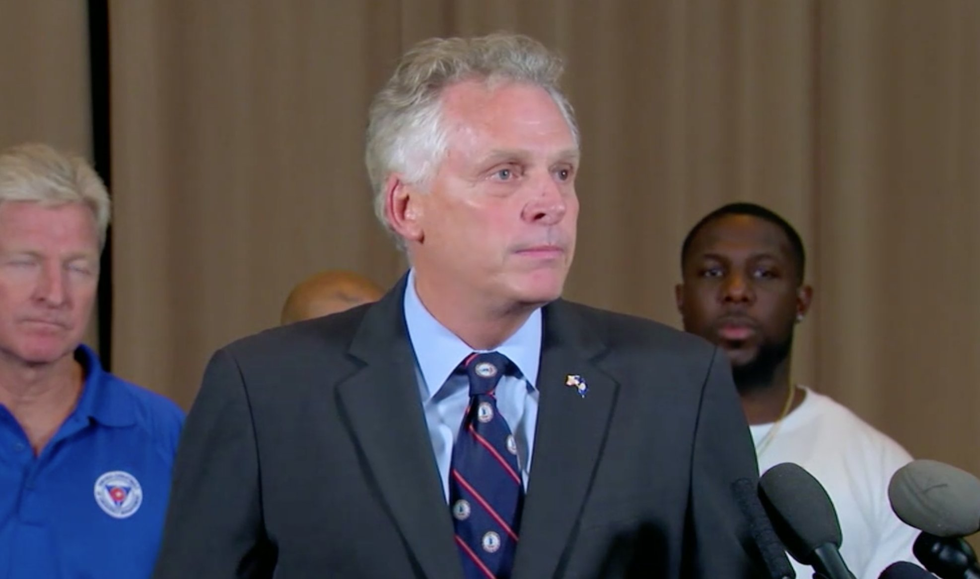 Virginia Gov. Terry McAuliffe to white nationalists: 'There is no place for you in America.' https://t.co/VNd7nBMCTH https://t.co/5yc4kTiIAv