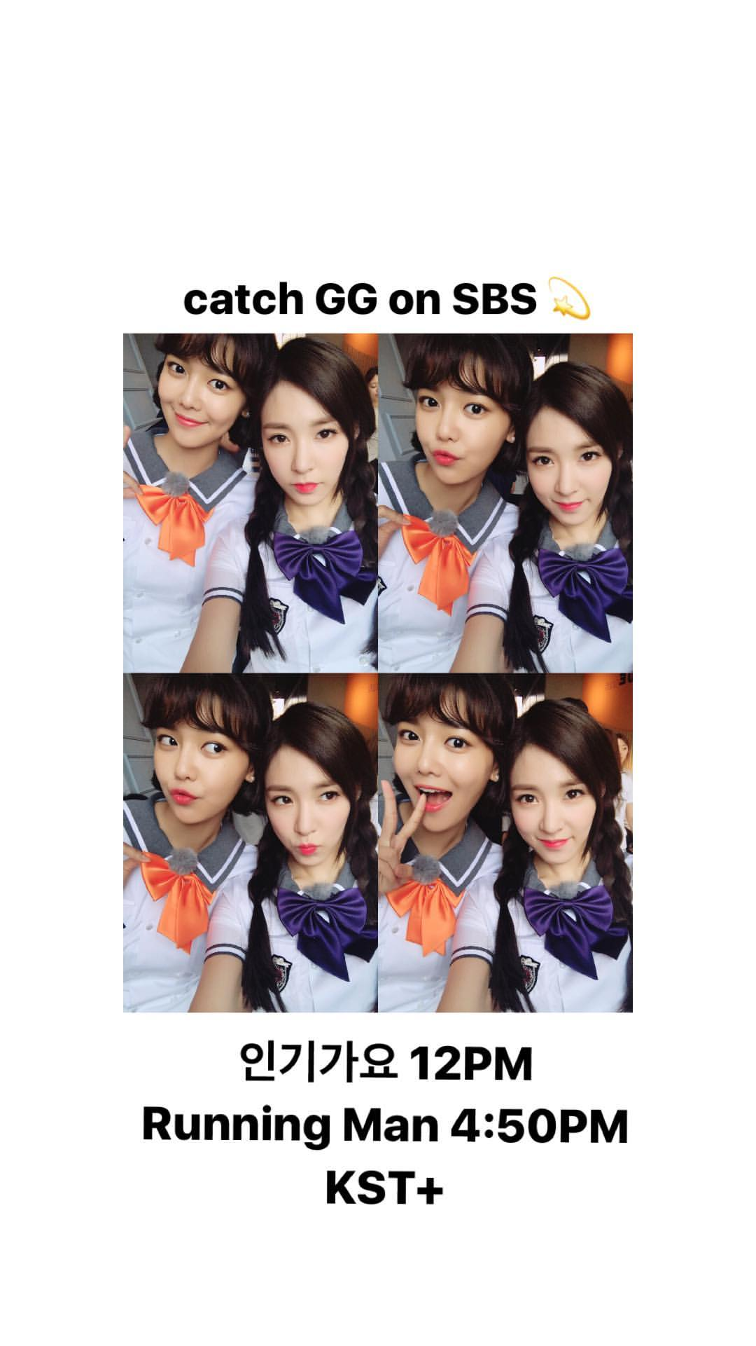 [INSTAGRAM STORY] xolovestephi: catch GG on SBS �� 인기가요 12PM Running Man 4:50PM KST+ https://t.co/7mzdg9WZuA https://t.co/DQzpshKFjf