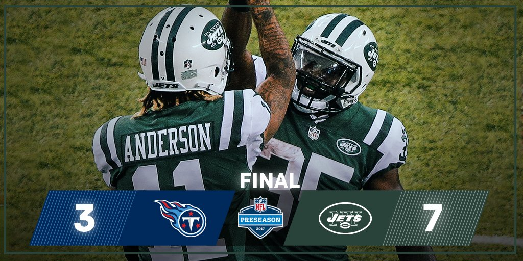 FINAL: The @nyjets get the WIN! #TENvsNYJ https://t.co/VWYjljbBkF