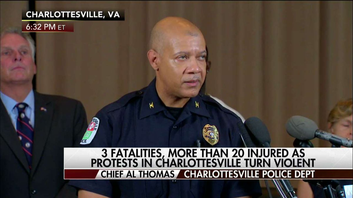 "Chief Al Thomas on #Charlottesville protests ""This is not our story, outsiders do not tell our story."""