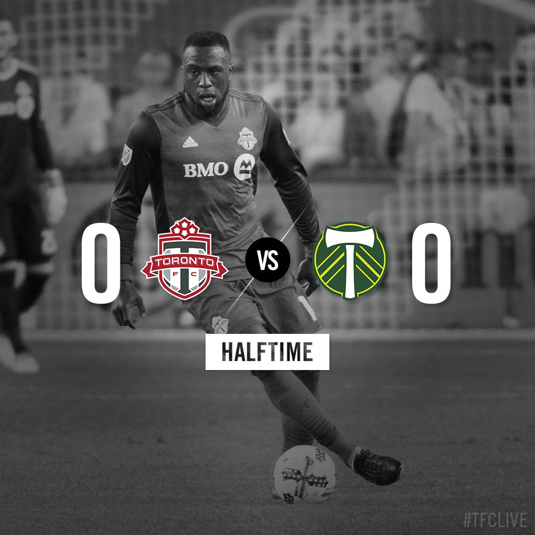 HT: Still looking for the game's first goal at @BMOField  #TFCLive | #TORvPOR https://t.co/3a3WmLv0t6