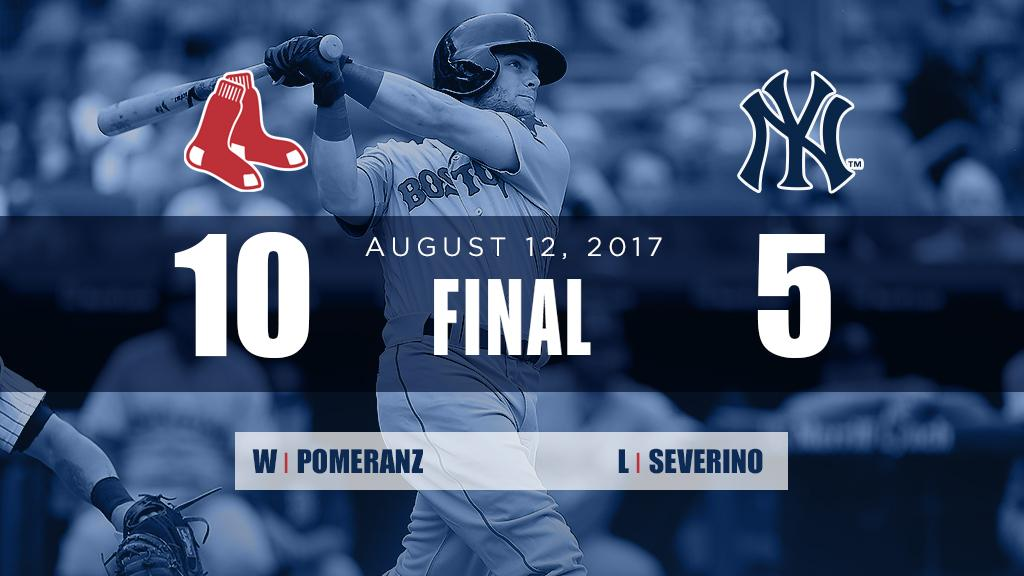 RECAP: @asben16's monster day with two 3-run home runs leads #RedSox over Yankees. https://t.co/tlNcAw2Ccs https://t.co/bCSpfNeGSj
