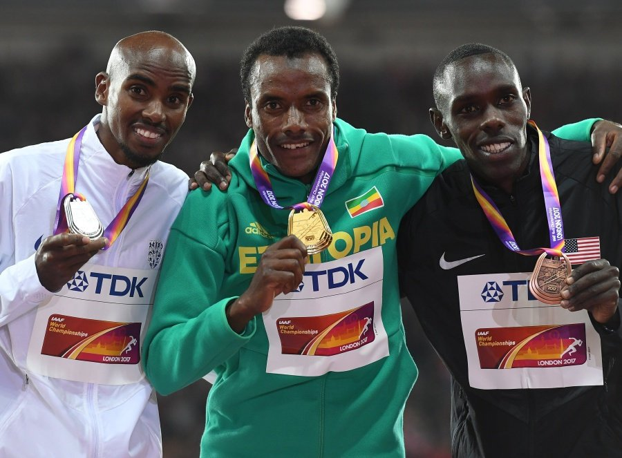 Farah denied final gold by Ethiopia's Edris