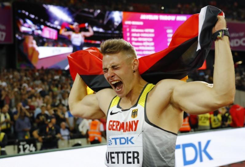 German Vetter wins javelin, Rohler misses out on medals