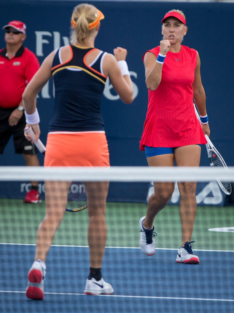 Doubles team @EVesnina001 and @KateMakarova1 advance to #RogersCup Final--> https://t.co/FDawotzrDU https://t.co/K0O7zQmUhY