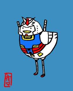 ぴよぴよガンダム。ひよこのシャア的なのはガンダムさんで出てきましたっけ。#小鳥ヒーローズ #機動戦士ガンダム